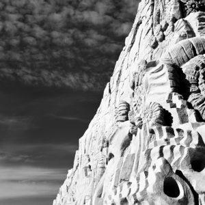 Sand and sky - sandskulptur-sort/hvid-billede4you