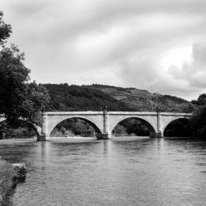 Scots bridge in the highland - Brigde - sort/hvid-billeder4you