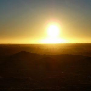 Solopgang over bjerge - billeder4you