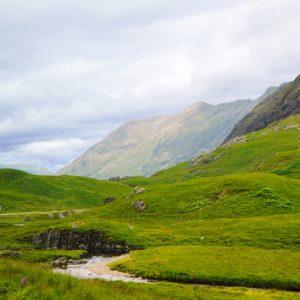 De skotske bjerge - Det skotske højland i sommeren