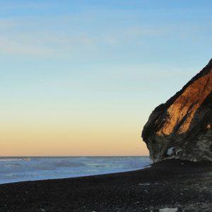 Solnedgang ved stranden - billeder4you