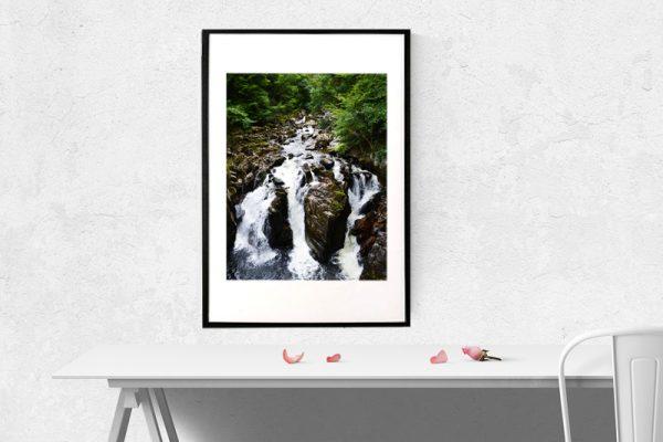 Skotsknatur vandfald - foto af vandfald i Scotland
