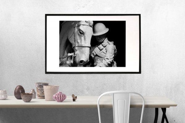 Rider and horse opsætning i ramme - billeder4you