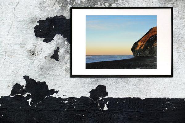 Solnedgang ved bjerge - billeder4you opsat