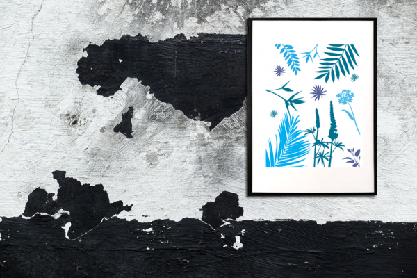 Tyrkis mønster illustration - billeder4you - Billede i ramme