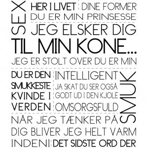 Til min kone - Tekstplakat - Billeder4you