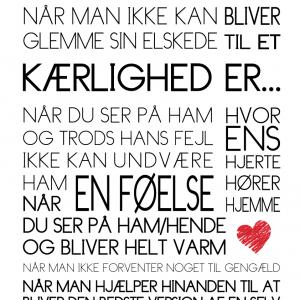 Kærlighed er... - Tekstplakat - Billeder4you
