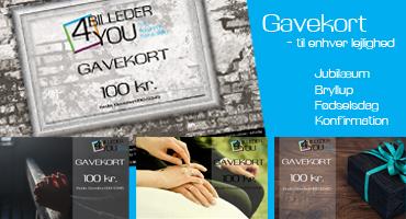 Gavekort til Billeder4you fra 100-1500 kr.
