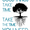 Good things take time - take the time you need -Tekstplakat -billeder4you