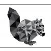 Egern i trekanter - sødt motiv af et egern - køb det hos Billeder4you