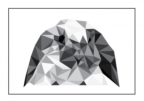 Trekant kanin - søde motiver i trekanter lavet af Wolf-illustrations - Køb billederne hos Billeder4you