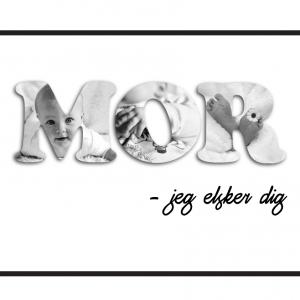 Billedplakat - Mor - jeg elsker dig fra Billeder4you
