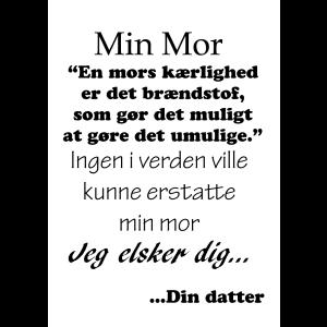 Til min mor fra din datter tekstplakat fra Billeder4you