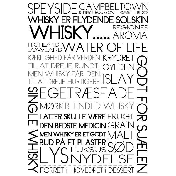 Whisky - water of life -tekstplakat fra Billeder4you