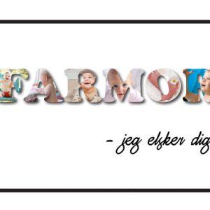 Farmor - jeg elsker dig i farver - Billeder4you