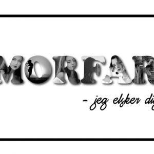 Morfar - jeg elsker dig i sort/hvid - Billeder4you