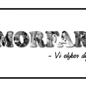Morfar - vi elsker dig i sort/hvid - Billeder4you