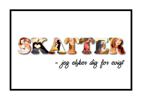Skatter - jeg elsker dig for evigt i farver - Billeder4you