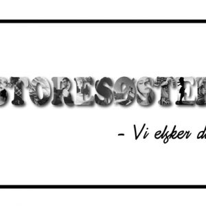 Storesøster - vi elsker dig i sort/hvid - billeder4you