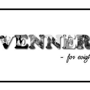 Venner - for evigt i sort/hvid - Billeder4you