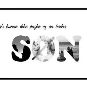 Vi kunne ikke ønske os en bedre - Søn i sort/hvid - Billeder4you