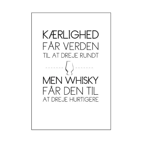 whisky og kærlighed tekstplakat fra billeder4you