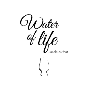 Water of life - whisky plakat fra Billeder4you