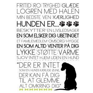 hunden er tekstplakat fra Billeder4you