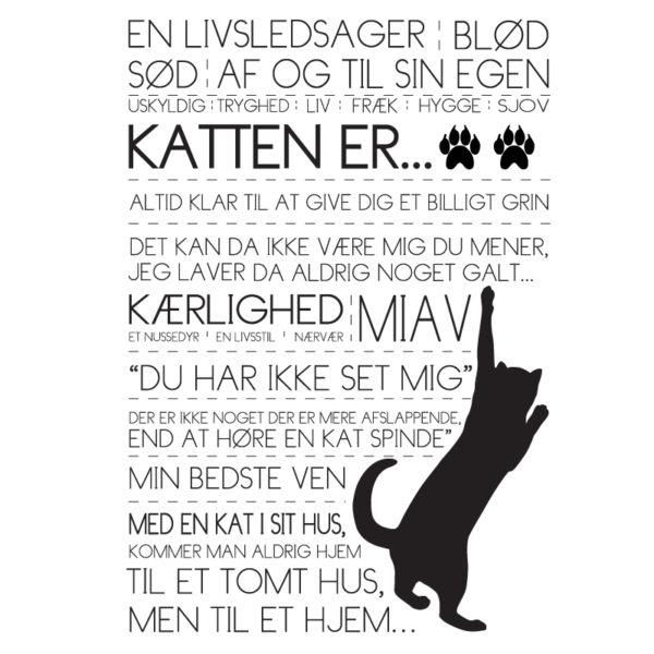 katten er tekstplakat fra Billeder4you