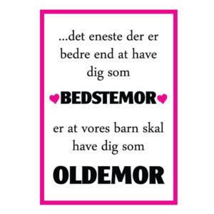 Bedstemor du skal være oldemor plakat - Billeder4you
