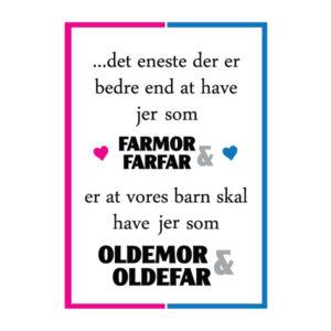 Farmor og farfar i skal være oldemor og oldefar - plakater fra Billeder4you