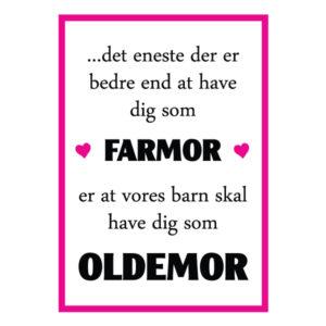 Farmor du skal være oldemor plakat fra billeder4you